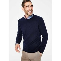 Cashmere Crew Neck Navy Men Boden, Navy