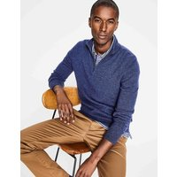 Cashmere Half-Zip Blue Men Boden, Blue