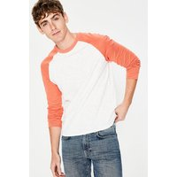 Long Sleeve Slub Raglan Orange Men Boden, Orange