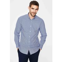 Slim Fit Poplin Pattern Shirt Blue Men Boden, Blue