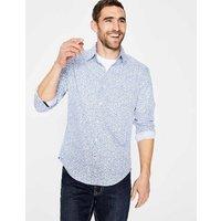 Slim Fit Floral Printed Shirt Blue Men Boden, Blue