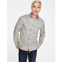 Double Cloth Shirt Grey Men Boden, Grey