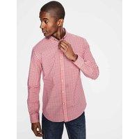 Casual Poplin Shirt Pink Men Boden, Pink