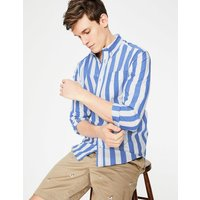 Slim Fit Casual Poplin Shirt Blue Men Boden, Blue
