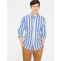 Casual Poplin Shirt Blue Men Boden, Blue