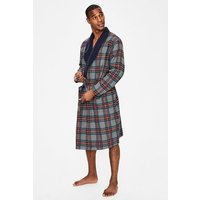 Brushed Cotton Dressing Gown Grey Men Boden, Grey