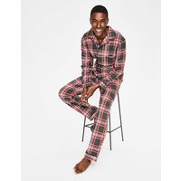 Brushed Cotton Pyjama Set Grey Men Boden, Black