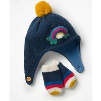 Crochet Hat & Mittens Set Blue Baby Boden, Blue
