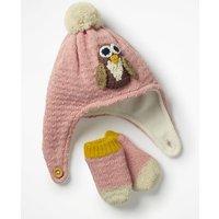 Crochet Hat & Mittens Set Pink Baby Boden, Pink