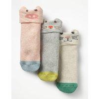 3 Pack Terry Socks Multi Girls Boden, Multicouloured