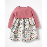 Peculiar Pets Knitted Dress Pink Baby Boden, Pink