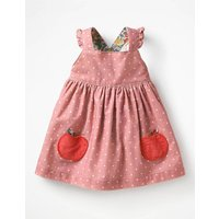Woven Applique Pinafore Pink Baby Boden, Pink