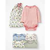 5 Pack Printed Bodies Multi Baby Boden, Multicouloured