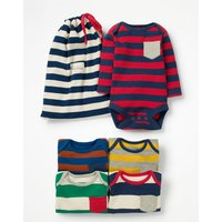 5 Pack Pocket Bodies Multi Baby Boden, Multicouloured