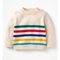 Fun Knitted Jumper Ivory Baby Boden, Beige