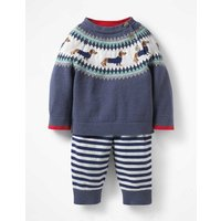 Colourful Knitted Play Set Blue Baby Boden, Blue