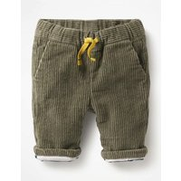 Colourful Cord Trousers Green Baby Boden, Green