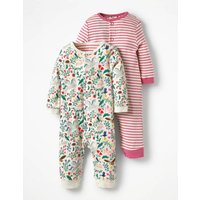 Twin Pack Pretty Rompers Multi Baby Boden, Multi