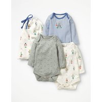 3 Pack Robot Bodies Multi Baby Boden, Multicouloured