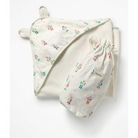 Supersoft Hooded Towel Multi Baby Boden, Multicouloured