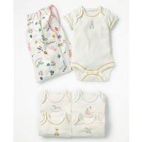 5 Pack Nursery Bodies Multi Baby Boden, Multicouloured