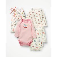3 Pack Nursery Bodies Multi Baby Boden, Multicouloured