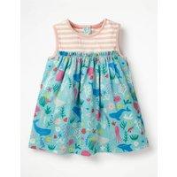 Jersey Woven Dress Multi Baby Boden, Multi