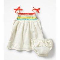 Strappy Rainbow Dress Ivory Girls Boden, Ivory