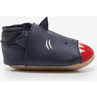 Leather Shark Shoes Grey Baby Boden, Grey