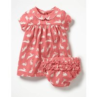 Printed Jersey Dress Pink Baby Boden, Pink