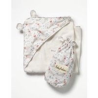 Supersoft Hooded Towel Ivory Baby Boden, Ivory
