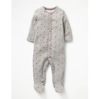 Snuggly Printed Sleepsuit Grey Baby Boden, Grey