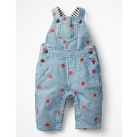 Embroidered Dungarees Brown Baby Boden, Brown