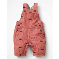 Embroidered Dungarees Red Baby Boden, Red