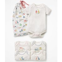 5 Pack Farmyard Bodies Ivory Baby Boden, Ivory