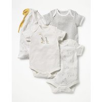3 Pack Unisex Bodies Ivory Baby Boden, Ivory