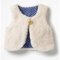Reversible Fleecy Gilet Ivory Baby Boden, Ivory