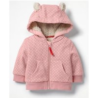 Shaggy-lined Zip-up Hoodie Pink Girls Boden, Pink
