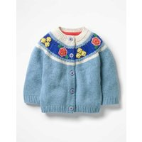 Crochet Flower Cardigan Blue Baby Boden, Blue