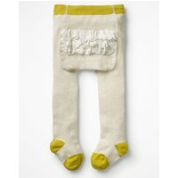 Ruffle Tights Ivory Baby Boden, Ivory