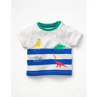 Reverse Applique T-shirt Blue Baby Boden, Blue