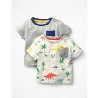 Twin Pack Colourful T-shirts Multi Baby Boden, Multi