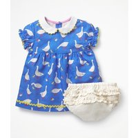 Peter Pan Collar Dress Blue Baby Boden, Blue