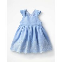 Woven Printed Pinnie Blue Baby Boden, Blue