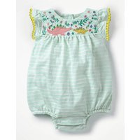Pretty Embroidered Romper Pink Baby Boden, Pink