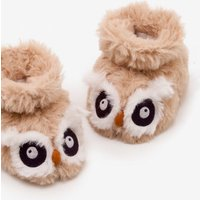 Owl Slippers Natural Baby Boden, Beige