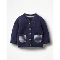 Pocket Cashmere Cardigan Blue Baby Boden, Blue
