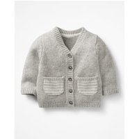 Pocket Cashmere Cardigan Silver Baby Boden, Silver