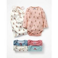 5 Pack Printed Bodies Multi Baby Boden, Multi