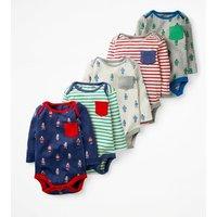 5 Pack Pocket Bodies Multi Baby Boden, Multi